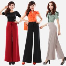 Casual pants Green 616 thin material Beige 616 thin material black 656 buckle thick red 656 buckle thick red 616 thin material dark green 656 buckle thick camel 616 thin material jujube 656 buckle thick black 616 thin material Winter 2014 trousers Wide leg pants High waist commute routine SMR