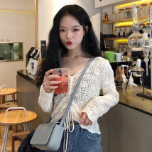 sweater Autumn of 2018 Average size White Blue Black Camel Long sleeves Socket singleton  have cash less than that is registered in the accounts V-neck