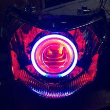 Xenon lamp for motorcycle Asia-Pacific KT Light bulb: Basic set - Angel + lens + thread group devil eye set - Basic Set + devil eye ballast set - Basic Set + devil + diazepam suit (super bright quick start) dragon suit + headlamp assembly + corner Lamp + tear eye + blackening lamp bowl