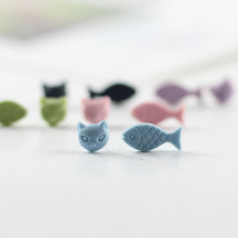 Ear Studs other RMB 1.00-9.99 Other / other Pink purple green blue black brand new Japan and South Korea lovers goods in stock Fresh out of the oven