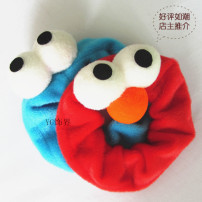 Hair accessories Hair rope RMB 1.00-9.99 Keke Xili One red and one blue [super value] red with nose, one blue without nose brand new Japan and South Korea Fresh out of the oven cloth Not inlaid FR-012