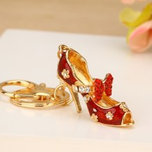 Key buckle Lancel Off white milky white Metal cartoon series  Plum blossom butterfly shoes Cartoon alloy