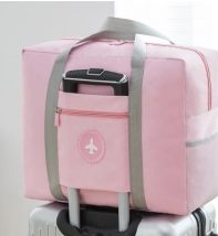 Travel bag polyester fiber nothing Packing / Beijin Light blue light purple off white light green pink large yes travel Double root Fashion trend Bag type polyester fiber Soft handle Solid color youth Zipper sandwich pocket candy two thousand five hundred and sixty-nine female 45*35*17cm