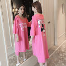 Nightdress Other / other Watermelon red (high quality cotton) M (medium) l (large) XL (large) Cartoon Short sleeve pajamas longuette summer youth