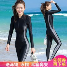Diving suit Haiyun star seventy-one thousand and twenty-nine female 101-200 yuan Three hundred and ninety-nine 8582 gray 8582 black 8581 black 8581 orange 8581 blue gray Pink Purple M L XL 2XL 3XL 4XL 5XL diving nylon