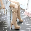 Boots 40 (size code customized non return and exchange) 41 (size code customized non return and exchange) 42 (size code customized non return and exchange) 43 (size code customized non return and exchange) 34 35 36 37 38 39 Suede Other / other High heel (5-8cm) Thick heel Suede High tube Round head