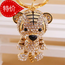 Key buckle Kuxi jewelry Aggressive tiger head classic leopard head love calf shell leopard head new cute tiger pink cute tiger red new cute tiger sky blue cute tiger red new cute tiger brother cute tiger true color new cute tiger sister old mature atmosphere Metal cartoon series  alloy Fifty-two