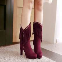Boots 33 (size code customized non return and exchange) 40 (size code customized non return and exchange) 41 (size code customized non return and exchange) 42 (size code customized non return and exchange) 43 (size code customized non return and exchange) 34 35 36 37 38 39 PU The West Thick heel PU