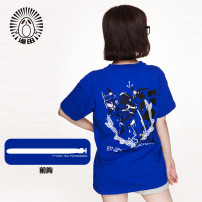 Cartoon T-shirt / Shoes / clothing T-shirt Over 14 years old Fleet collection goods in stock blue S M L XL XXL summer Japan Man Tian Sports Street simple fashion trend Japanese literature and art lovely leisure Tianlong TX2