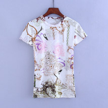 T-shirt White yellow green M L XL other 30% and below A-T4342