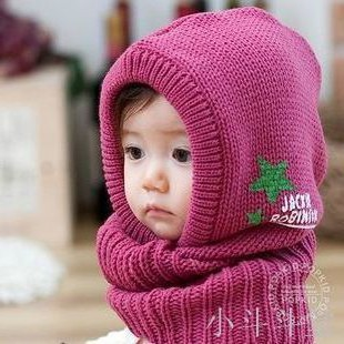 Hat Average size rose red About 8-1 years old neutral Headgear dome leisure time Other / other No eaves Wool zl0158