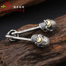 Pendant / Pendant Silver ornaments 201-300 yuan Other / other Single Pendant (without chain) brand new goods in stock Fresh out of the oven Japan and South Korea Not inlaid male Skeleton / spider 95WJX 925 Silver