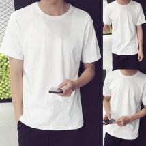 T-shirt Youth fashion White black light grey dark grey routine 4XL 5XL M L XL 2XL 3XL Others Short sleeve Crew neck standard daily summer youth routine