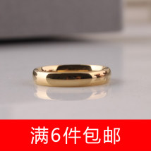 Ring / ring Titanium steel RMB 1.00-9.99 Other / other 16 17 18 19 20 21 22 brand new goods in stock Europe and America male Online gathering features Not inlaid other