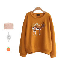 sweater Fall 2017 Average size Yellow red black Long sleeves Socket singleton  Regular other 71% (inclusive) - 80% (inclusive) Crew neck Regular street routine Cartoon animation Bat type four thousand eight hundred and eighty-eight Embroidery