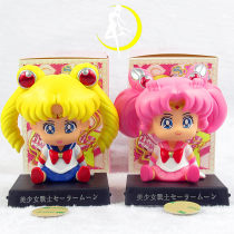 Doll / Ornament / hardware doll goods in stock Little rabbit moon hare comic Japan Shake your head PVC Sailor Moon Home furnishings, desktop furnishings, car furnishings Shake your head Tsukino Usagi