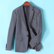 man 's suit other Zhang Qingbai Others routine XXXXL S M L XL 2XL 3XL standard A single breasted button Other leisure Back middle slit