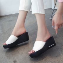 Sandals 35 36 37 38 39 40 Black and white Other / other PU Barefoot Square heel Low heel (1-3cm) Summer of 2018 Flat buckle Korean version Solid color Adhesive shoes rubber Front and rear trip strap Hollow PU PU