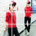Casual suit Summer of 2018 Red and white M L XL XXL 18-25 years old 04452 printed sports suit (7e12, 3rd floor)#