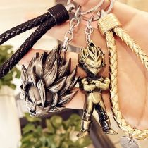 Key buckle other Golden silver rope + Monkey King