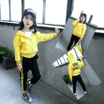 suit Other / other Hooded yellow black striped skirt rose red striped skirt 110cm 120cm 130cm 140cm 150cm 160cm female spring and autumn Korean version