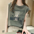 T-shirt White gray black Khaki blue Average size Summer of 2018 Sleeveless Crew neck easy Regular routine commute other 30% and below 18-24 years old Korean version youth thatxiaov