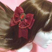 Hair accessories Side clip RMB 20-24.99 Other / other Dark red (one) cyan (one) black (one) other colors, please contact customer service brand new Retro / court Fresh out of the oven Silk yarn other