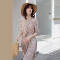 Dress Summer of 2018 Decor XXS,XS,S,M,L Middle-skirt 18-24 years old Mumu Home Q9046 More than 95% polyester fiber