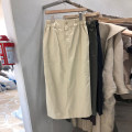 skirt Spring 2021 S,M,L,XL White, black, khaki, green Mid length dress commute High waist A-line skirt Solid color Type A 18-24 years old 51% (inclusive) - 70% (inclusive) other cotton Button, pocket Korean version 41g / m ^ 2 (including) - 60g / m ^ 2 (including)