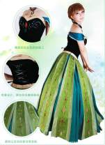 Cosplay women's wear skirt goods in stock Over 14 years old Animation, film and television 50. M, s, XL, XXL, one size fits all, customized Europe and America Frozen