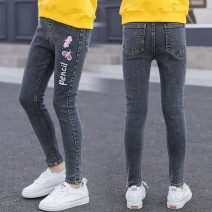 trousers middle-waisted Leather belt Class B Zhejiang Province Huzhou City Other / other Don't open the crotch There are models in the real shot Korean version female Girls' Stretch Jeans Three, four, five, six, seven, eight, nine, ten, eleven, twelve, thirteen, fourteen Cotton elastic denim Jeans