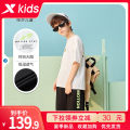 suit XTEP / Tebu The official flagship store of children's wear 120cm 130cm 140cm 150cm 160cm 165cm 170cm male summer motion Short sleeve + pants 2 pieces routine Official pictures Socket nothing other other Cotton 100% Summer 2021 Chinese Mainland Fujian Province Quanzhou City