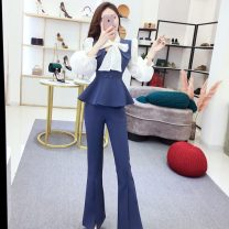 Fashion suit Autumn 2020 S,M,L blue 18-25 years old 30% and below