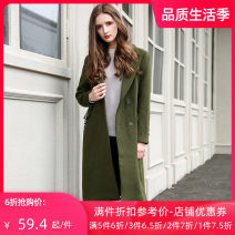 Windbreaker Winter of 2019 XS S M L Long sleeves routine Medium length commute Single breasted V-neck routine Solid color Straight cylinder Jando 25-29 years old 51% (inclusive) - 70% (inclusive) polyester fiber Polyester 51.3% wool 48.7% Same model in shopping mall (sold online and offline)