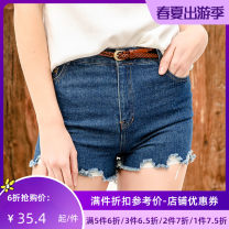 Jeans Summer of 2019 blue XS S M L XL shorts Natural waist Straight pants routine 25-29 years old C72130 Jando Cotton 100%