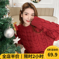 Women's large Winter 2020 sweater singleton  Sweet easy moderate Socket Long sleeves Solid color Crew neck routine routine 12-21C5347-XX Beauty mark 18-24 years old Polyacrylonitrile fiber (acrylic fiber) 50% polyester fiber 30% polyamide fiber (polyamide fiber) 20% solar system
