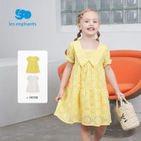 Dress White, yellow female Les enfants 80cm,90cm,100cm,110cm,120cm,130cm Other 100% summer princess other Fluffy skirt A2E2010603 Spring 2021 12 months, 2 years old, 3 years old, 4 years old, 5 years old, 6 years old, 7 years old, 8 years old