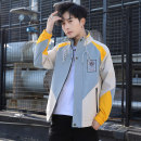 Jacket Other / other Fashion City 165/M,170/L,175/XL,180/XXL,185/3XL routine Self cultivation Other leisure autumn Polyester 100% Long sleeves Wear out Hood tide teenagers routine Zipper placket 2021 Cloth hem No iron treatment Closing sleeve Color block Color matching