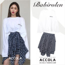 skirt Spring 2020 S,M,L,XL Blue checked skirt [single piece], letter plus long sleeve T-shirt [single piece], letter T-shirt + blue skirt [suit] Middle-skirt commute High waist Irregular lattice Type A 18-24 years old 81% (inclusive) - 90% (inclusive) other Other / other cotton Bandage, asymmetric