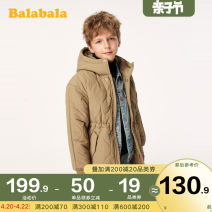 Cotton padded jacket male No detachable cap other Bala Deep Khaki 5702 black 9000-22064191217 earth grey green 4920-22064191217 shell card 5203-22064191217 orange red 6511-22064191213 black 9000-22064191213 140cm 150cm 160cm 165cm 170cm 175cm thickening Zipper shirt leisure time Solid color other