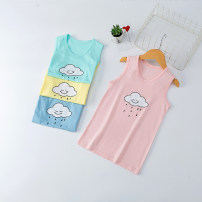 Vest sling Blue, yellow, green, one size smaller, please choose one size larger, four colors each, pink heart, blue head, gray head, light orange head, light pink head, green head, white head, yellow head, brown head, pink head Sleeveless 100,110,120,130,140,150 summer wvsv neutral No model Crew neck
