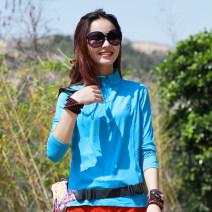 Quick drying T-shirt * * * female * * * Dark grey, rose red, sky blue AI Hu 101-200 yuan M,L,XL,2XL,3XL,4XL. Long sleeves Anti ultraviolet, breathable, wear-resistant, quick drying, ultra light, anti-static stand collar