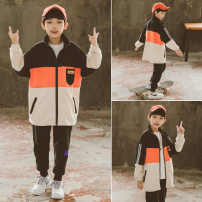 suit Babybody Black blue 120cm 130cm 140cm 150cm 160cm 170cm male spring and autumn Korean version Long sleeve + pants 2 pieces Thin money There are models in the real shooting Zipper shirt nothing other children Giving presents at school C21033T Class B Other 100% Spring 2021 Chinese Mainland