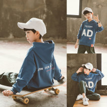 suit Babybody Black haze blue light blue 120cm 130cm 140cm 150cm 160cm 170cm male spring and autumn Korean version Long sleeve + pants 2 pieces Thin money There are models in the real shooting Socket No detachable cap other children Giving presents at school C21015 Class B Spring 2021 Huzhou City