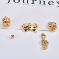 Other DIY accessories Other accessories Alloy / silver / gold 0.01-0.99 yuan 1 ᦇ crown [1] 2 ᦇ note [1] 3 ᦇ skull [1] 4 ᦇ hollow ball [1] 5 ᦇ bow [1]