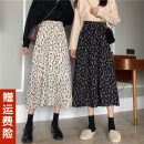 skirt Spring 2021 Average size White, black Mid length dress commute High waist A-line skirt Broken flowers Type A 18-24 years old 71% (inclusive) - 80% (inclusive) other other printing Korean version