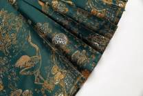 Hanfu 71% (inclusive) - 80% (inclusive) Dark green, purplish red, light red, black gold Only fabric positioning, customized horse face products polyester fiber