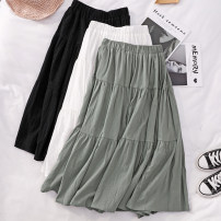 skirt Spring 2021 Average size Mid length dress commute High waist Umbrella skirt Solid color Type A 25-29 years old K22 81% (inclusive) - 90% (inclusive) other Tagkita / she and others other Korean version