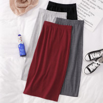 skirt Spring 2021 Average size Black, dark grey, light grey, red Mid length dress Versatile High waist skirt Solid color Type H 25-29 years old Q902 81% (inclusive) - 90% (inclusive) other Other / other other