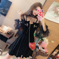Fashion suit Spring 2021 S,M,L Suit, suspender skirt 18-25 years old Other / other 51% (inclusive) - 70% (inclusive) polyester fiber